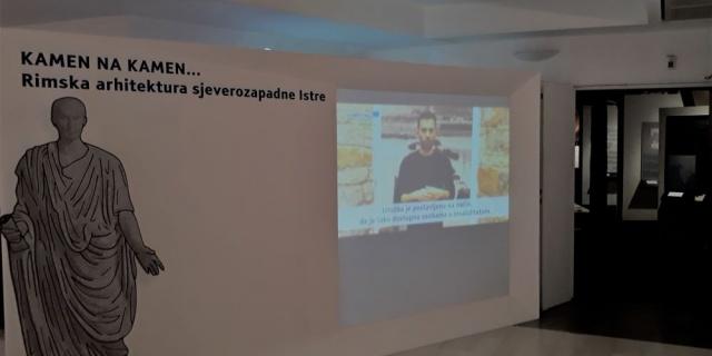 """Inaugurazione della mostra del Museo del mare di Pirano """"Pietra su pietra… Architettura romana dell'Istria nordoccidentale"""" nel Museo civico di Zagabria"""