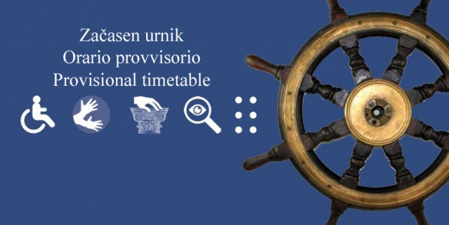 Provisional timetable in all units of the Maritime Museum