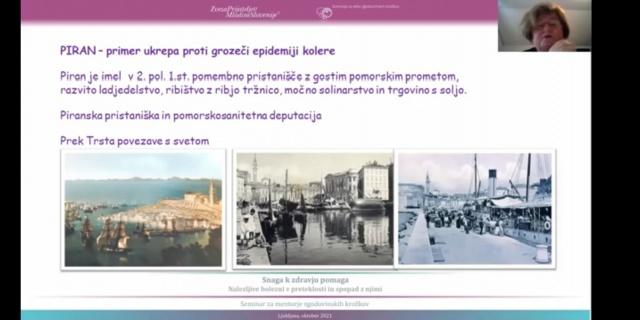 Predavanje dr. Nadje Terčon : »Smrdljivo jezero« je trg postalo